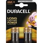 BATTERIA MINISTILO 1.5V 4 PZ. AAA BASIC POWER DURACELL