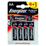 BATTERIA STILO 4PCS + 1PCS ALKALINE POWER ENERGIZER